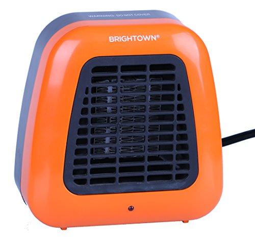 Personal Ceramic Portable-Mini Heater for Office Desktop Table Home Dorm, 400-Watt ETL Listed for Safe Use, Orange Brightown Ceramic Heaters