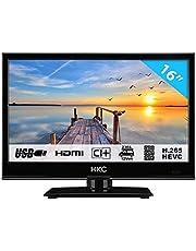HKC 16M4 LED-tv van 39,6 cm (16 inch) (HD-Ready, Triple Tuner, CI +, mediaspeler USB 2.0, 12V autolader) [energieklasse A +]
