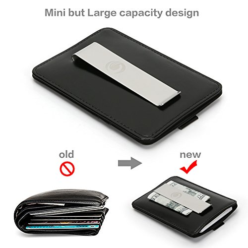 Wallets for Men with Money Clip-Mens Wallets-EGRD Slim Genuine Leather Front Pocket Wallets Credit Card Holder Sleeve-RFID Blocking(Leather Wallet Black) Photo #4