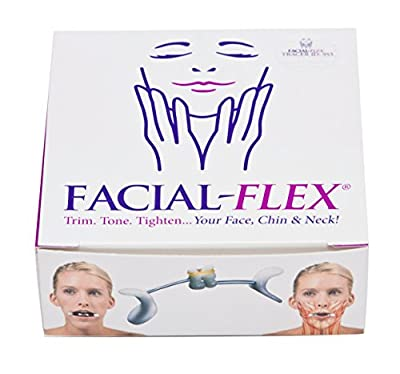 Facial Flex Facial Exercise and Neck Toning Kit Bands 8 oz & 6 oz & Case