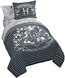 Jay Franco Harry Potter Draco Dormiens 5 Piece Twin Bed Set - Includes Reversible Comforter & Sheet Set - Super Soft Fade Resistant Polyester - (Official Harry Potter Product)