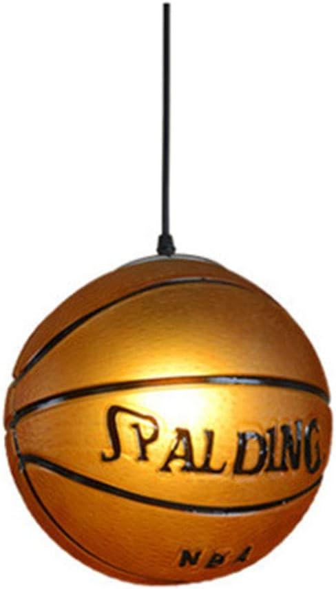 QLIGHA Araña para la Forma de Baloncesto Retro Lámpara acrílica ...