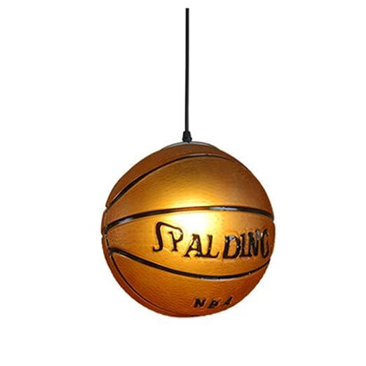 QLIGHA Araña para la Forma de Baloncesto Retro Lámpara ...