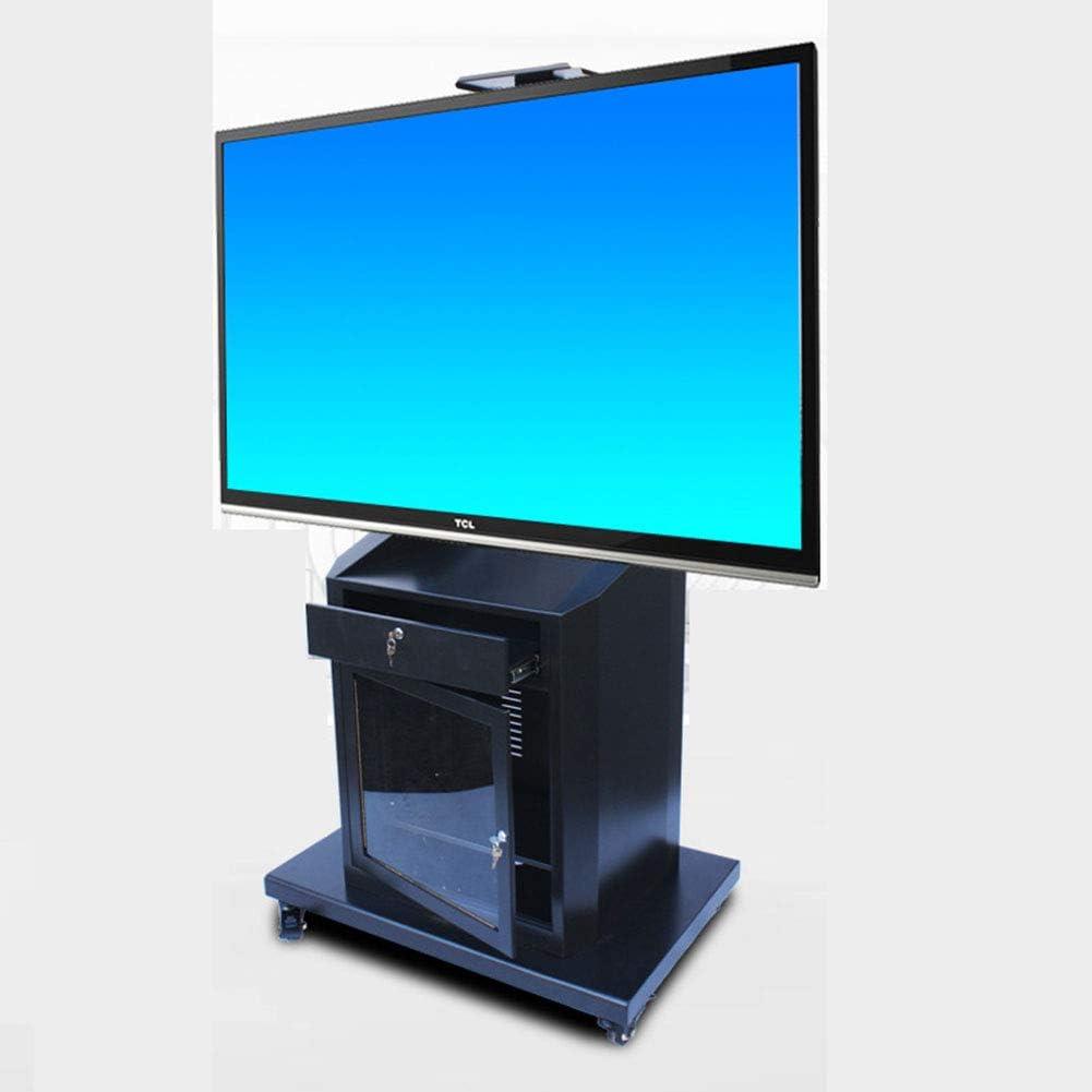 XUE - Soporte para televisor de 40 a 75 Pulgadas con Pantalla LCD de Plasma con cajón Giratorio 360º con Ruedas para gestión de Alambre móvil, Dormitorio, Sala de reuniones, Sala de