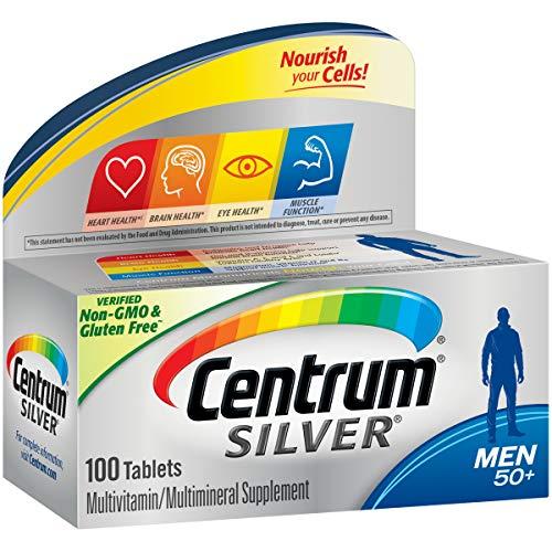Centrum Silver Men (100 Count) Multivitamin / Multimineral Supplement Tablet, Vitamin D3, Age - Men 100 Tablets