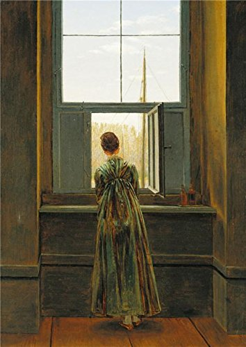 80's Workout Barbie Costume (The Perfect Effect Canvas Of Oil Painting 'Caspar David Friedrich-Woman At A Window,1822' ,size: 10x14 Inch / 25x36 Cm ,this Cheap But High Quality Art Decorative Art Decorative Prints On Canvas Is Fit For Hallway Decoration And Home Decoration And Gifts)