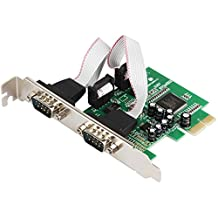 2 Port RS232 RS-232 Serial Port COM to PCI-E PCI Express Card Adapter Converter IOCREST 2-port Serial Low Profile Bracket