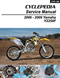 CPP-166-P Yamaha YZ250F Cyclepedia Printed Motorcycle Service Manual 2006 ? 2009