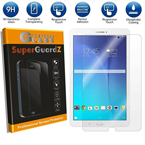 [2-PACK] For Samsung Galaxy Tab E 9.6 / Tab E Nook 9.6 - SuperGuardZ Tempered Glass Screen Protector, 9H, 0.3mm, 2.5D Round Edge, Anti-Scratch, Anti-Bubble
