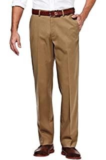 Blue 33-30 Haggar HD00218 Mens Eclo Stria Dress Pant Classic Fit Hidden Expandable Waistband
