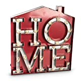 The Gerson Company Rustic Red Metal House Lighted Symbol with Home Letter 32 Warm White Led Review