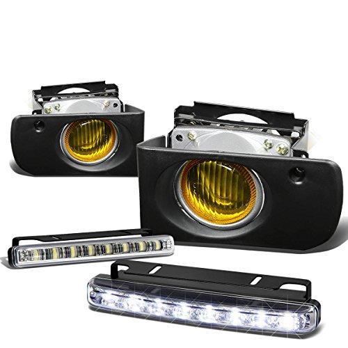 For Acura Integra DB/DC Pair of Amber Lens Bumper Fog Lamp+Bulbs+Switch+DRL 8 LED Day Time Running Light