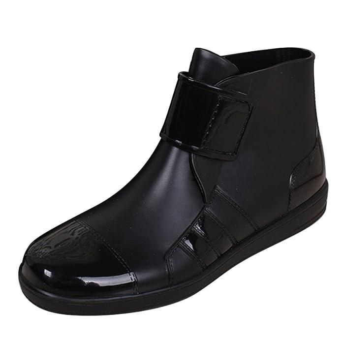 SGoodshoes Gummistiefel Regenstiefel Gummistiefeletten Regen Stiefeletten Wasserdicht Kurze Stiefel Herren Damen