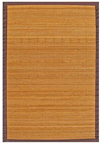 (Anji Mountain AMB0010-0069 Villager Natural Bamboo Rug, Natural, 6' x 9')