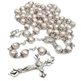 Freshwater Pearl Rosary Necklace Antique Catholic Religious Jewelry the Rosary Beads Cross