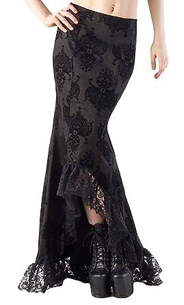 Larga Falda de baile con logo elegante y encaje negro small ...