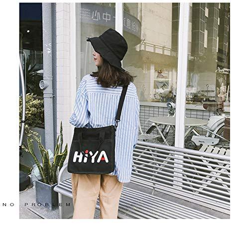 japonaise de sauvage sac coréenne Harajuku sac Noir de petit femelle bandoulière LANDONA à Disco étudiantes sac toile nI61wqxHA0