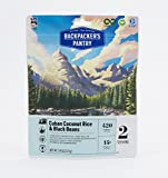 vegan dehydrated food - Backpacker's Pantry Cuban Coconut Black Beans and Rice, Two Serving Pouch, (Packaging May Vary)​