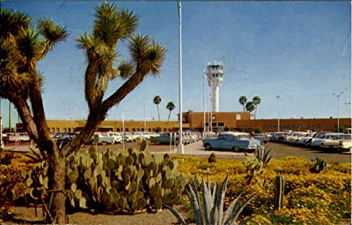 Sky Harbor Airport Phoenix, Arizona Original Vintage Postcard (Airport Phoenix Arizona)