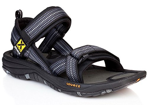Source Men Sandalen Chess Schwarz Black Chess Black Gobi Black vvPgr6x