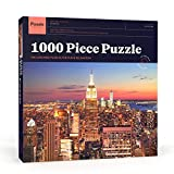 Puzzle Press | New York City Puzzle 1000 Piece Adult Puzzle - NYC Skyline with Empire State Building - Challenging Family Puzzle (Toy)
