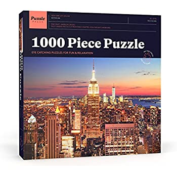 Puzzle Press   New York City Puzzle 1000 Piece Adult Puzzle - NYC Skyline with Empire State Building - Challenging Family Puzzle