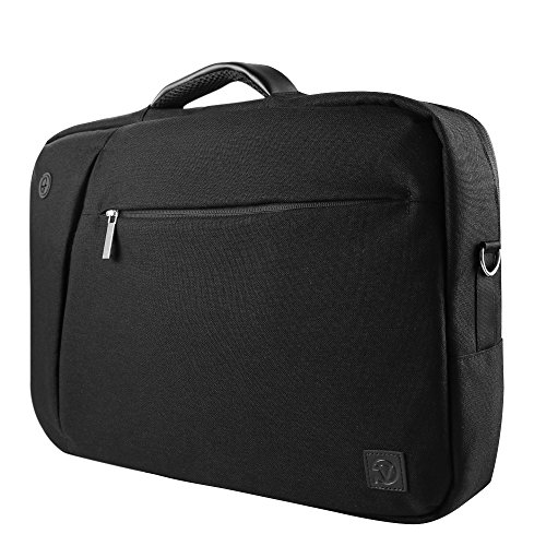 Hideaway Backpack Straps - Vangoddy Slate 3 in 1 Hybrid Universal Laptop Carrying Bag, Size 15.6 inch, Onyx Black