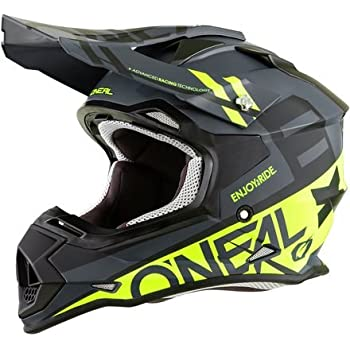 ONeal 2SERIES Mens Off-Road SPYDE Helmet (Black/Hi-Viz, Large)