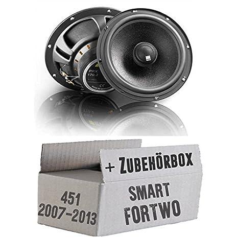 Alpine SPG-17C2-2-Wege 16cm Koax Lautsprecher Smart ForTwo 451 Front Einbauset