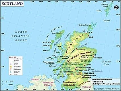 Scozia Cartina Stradale.Mappa Scozia Paese 91 4 Cm W X 69 1 Cm H Amazon It Cancelleria E Prodotti Per Ufficio