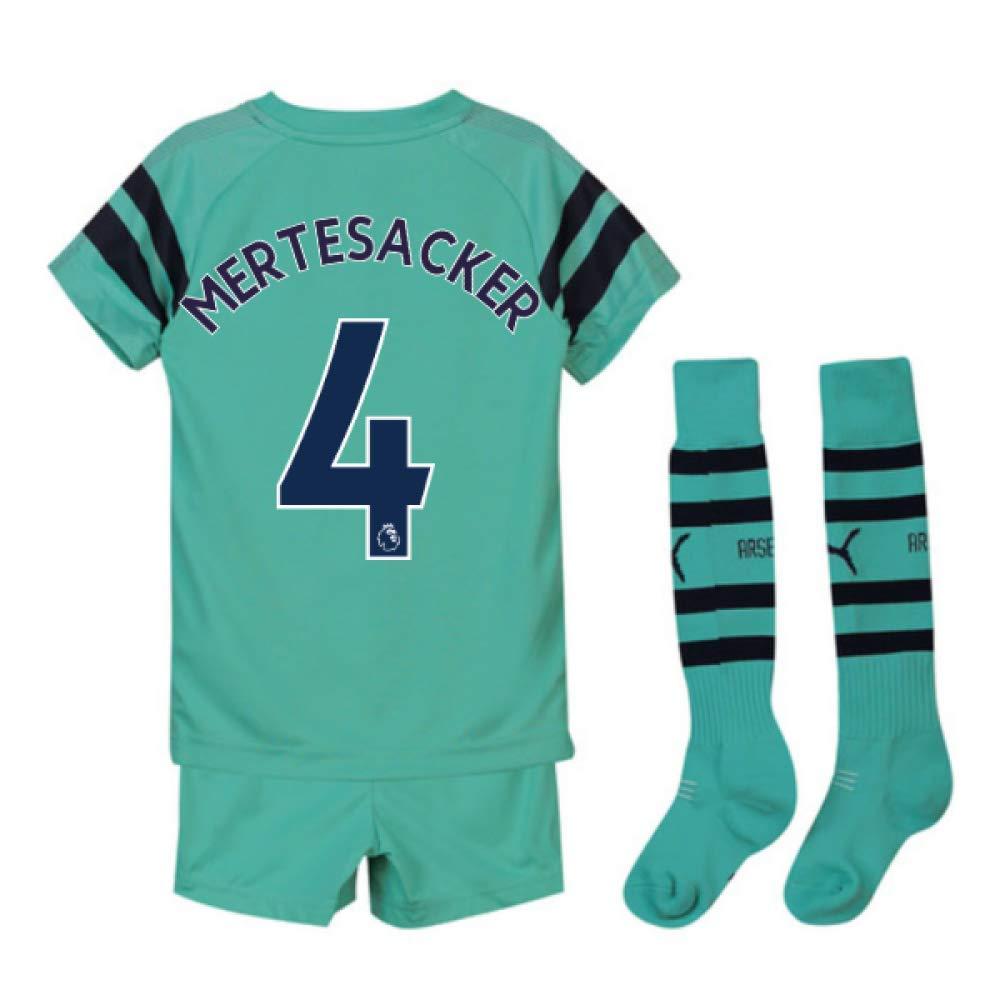 UKSoccershop 2018-2019 Arsenal Third Little Boys Mini Kit (Per Mertesacker 4)