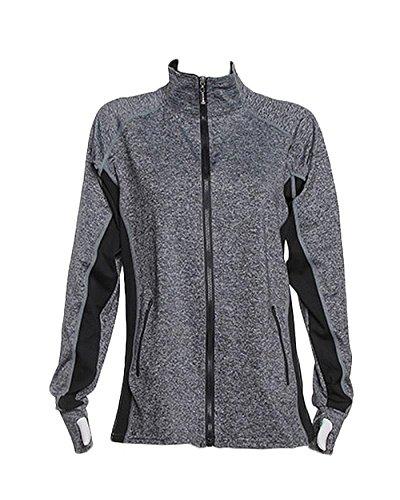 JVINI Women's Zip Up Active Performance Lightweight Moisture Wicking Jackets