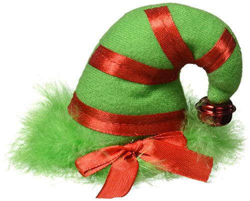 Mini Elf Hat (Amscan Fun-Filled Christmas & Holiday Party Mini Elf Hair Clip, Red/Green, 3 1/4
