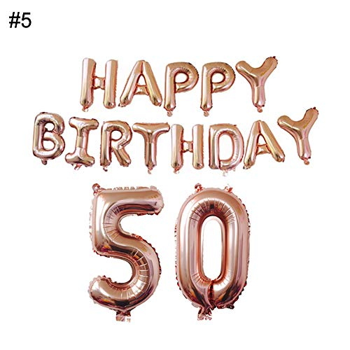 Ballons & Accessories - Happy Birthday Aluminium Foil Number Balloons 18 21 30 40 50 60 Wedding Engagement Party Decor - Accessories Ballons 15 Birthday Funny 40 Baloon Birthday 60 Party 60 B