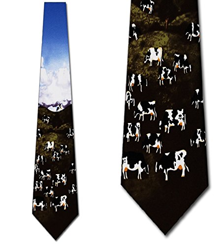 Tie Cow (Cow Pastures tie Mens Necktie)