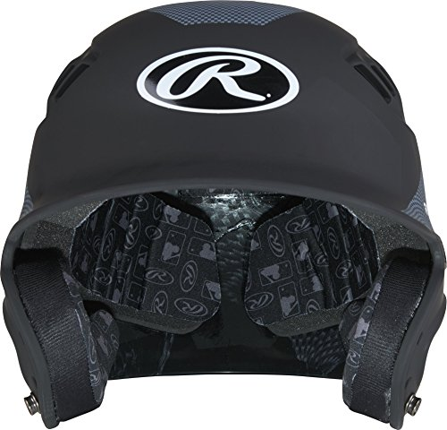 Rawlings Velo Junior Matte/Carbon Fiber Finish Batting Helmet, Matte (Collegiate Batting Helmet)