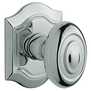 Baldwin 5077260IMR Polished Chrome Individual Bethpage Estate Door Knob without Rosette Baldwin