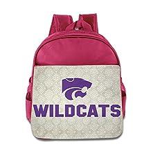 Kansas State Wildcats Backpack Children School Bags Pink