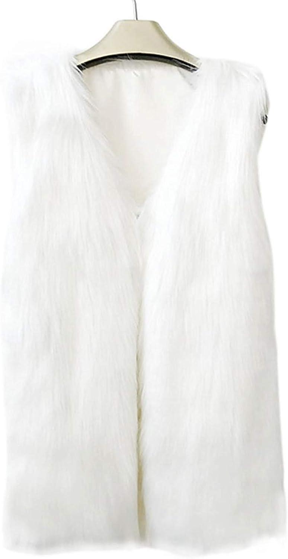 Saoye Fashion Fellweste Damen Sleeveless Kunstpelz Jacket Unifarben Hochwertigem Bequeme Pastell Herbst Kleidung Winter Pelzweste Outerwear