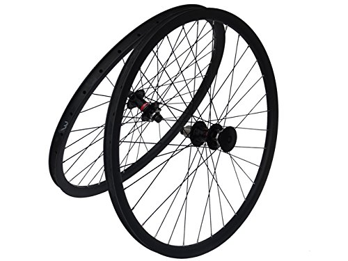Full Carbon Matt Clincher Rim 29er Mountain Bike MTB 29'' Wheel Clincher Wheelset by x-goods