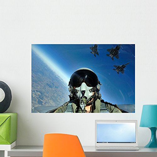 - Three-ship Formation F-15e Strike Wall Mural by Wallmonkeys Peel and Stick Graphic (24 in W x 16 in H) WM112490