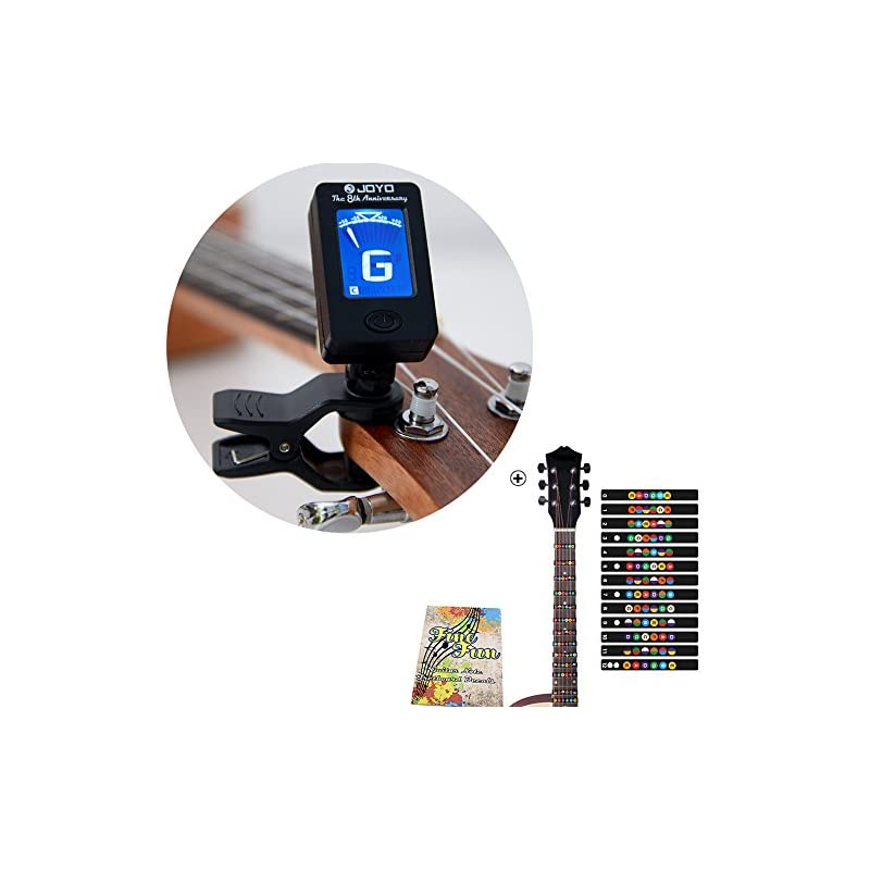 guitar-clip-on-tuner-and-fretboard