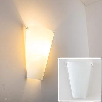 Wandlampe Zera in Weiß - Wandleuchte aus Echtglas im stilvollen ...