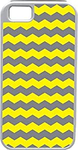Blueberry For SamSung Galaxy S3 Case Cover Zigzag Wave Yellow and Dark Grey - Ideal Gift