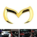mazda 3 emblem rear - MAZDA CHROME GOLD EVIL M BATMAN REAR TRUNK METAL EMBLEM BADGE LOGO 2004 - 2011