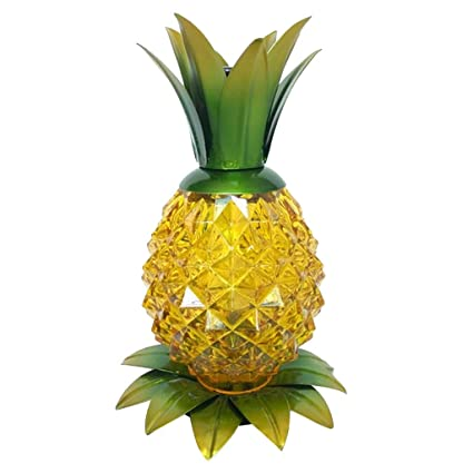 pretty nice 81d01 ede87 Amazon.com: B Blesiya Solar Powered Pineapple Jar Light LED ...