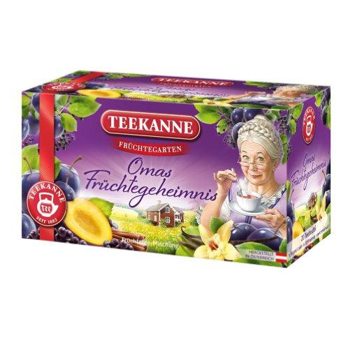 Teekanne Früchtegarten Omas Früchtegeheimnis 20 Beutel, 6er Pack (6 x 60 g)