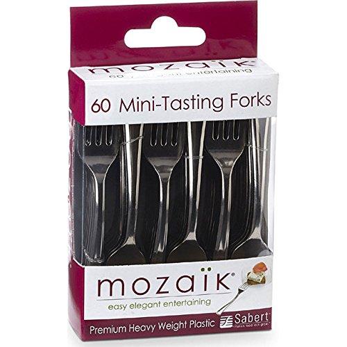 Mini Fork (Mozaik Mini-Tasting Forks 60 pcs. Cocktail Party Appetizers Silver)