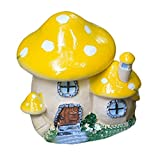 Cheap AllGreen Cartoon Mushrooms 3D Simulation Gardening Potted Mushrooms Bonsai Micro Landscape Decor Lawn Ornaments for Outdoor Patio Home Accessories(Stone Window,Yellow)