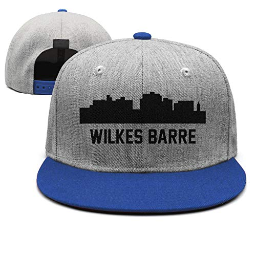 Fashion Dad Cap Young Men Wilkes Barre Pennsylvania Skyline Cityscape Blue Adjustable Style Fitted Unisex Hat (Apparel University Wilkes)
